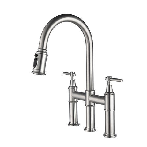 Bridge Kitchen Faucet With Pull-Down Spray