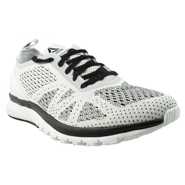 4ce3b19227d8a Shop Reebok Mens Print Smooth Clip Ultraknit White Running Shoes ...