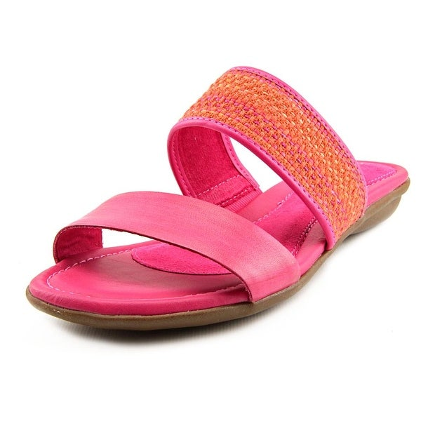 Hush Puppies Nishi Slide Open Toe Leather Slides Sandal