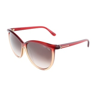 Tom Ford FT0296/S 68F JOSEPHINE Transparent Red Honey Oversized sunglasses