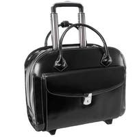 Mcklein 4T9990 15.4 in. Granville Leather Wheeled Ladies Laptop