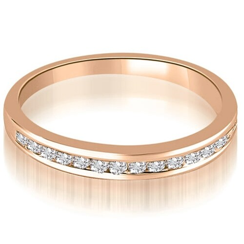 0.35 cttw. 14K Rose Gold Classic Channel Set Round Cut Diamond Wedding Ring