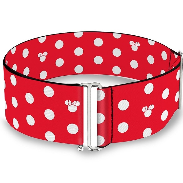 Minnie Mouse Polka Dot Mini Silhouette Red White Cinch Waist Belt ONE SIZE