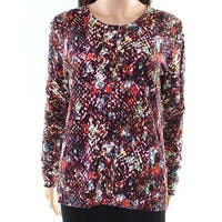 August Rush Black Women's Size Large L Abstract Cardigan Sweater