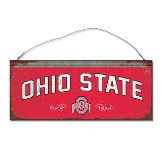 Ohio State University Small Tin Sign