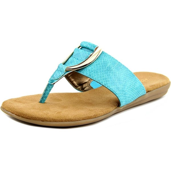 Aerosoles Nice Save Women Open Toe Synthetic Green Thong Sandal