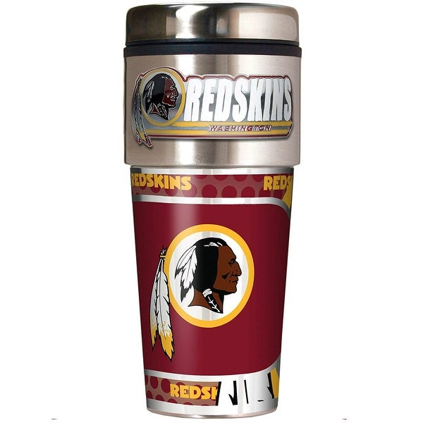 532a1cca Great American Products Washington Redskins Travel Tumbler Stainless Steel  16 oz. Travel Tumbler
