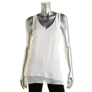 Karen Kane Womens Georgette Double Layer Tank Top - S