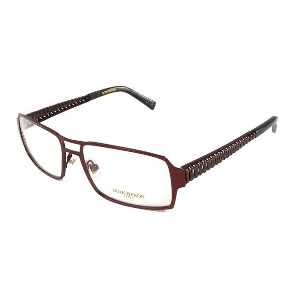 c7fd6d4f621 Shop Boucheron Unisex Rectangular Eyeglasses Red - S - Free Shipping Today  - Overstock.com - 13405263