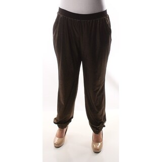 NY COLLECTION Womens New 1193 Gold Lounge Casual Pants S B+B