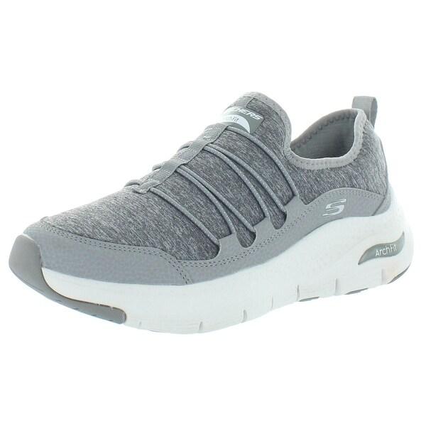 skechers slip on tennis shoes womens