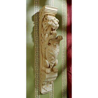 Manor Lion Wall Sculpture DESIGN TOSCANO lion sconce wall hanging manor lion
