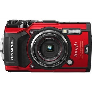 Olympus - Tough TG-5 12.0-Megapixel Water-Resistant Digital Camera - Red