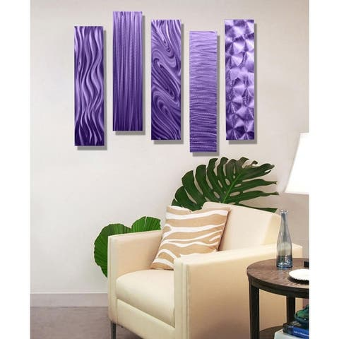 Statements2000 Abstract Metal Wall Art by Jon Allen (Set of 5) - 5 Easy Pieces