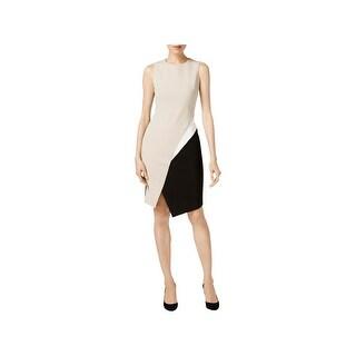 Calvin Klein Womens Wear to Work Dress Colorblock Sleeveless