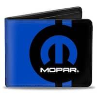 Mopar Logo Stripe2 Black Blue Bi Fold Wallet - One Size Fits most