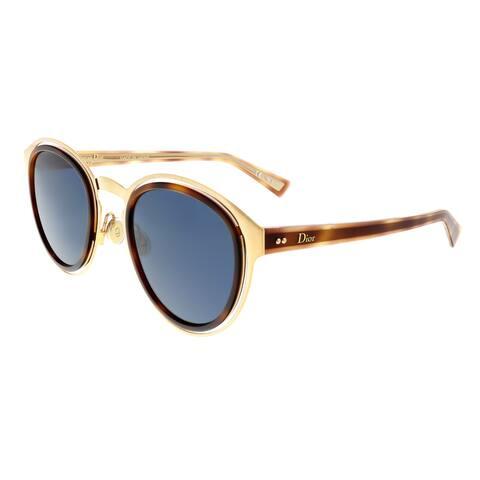 DIOR OBSCURE Gold Havana Round Sunglasses - 49-24-145