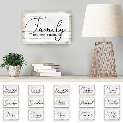 Olivia Rose 'Admiration' Canvas Textual Wall Art - 8 in. H x 12 in. W