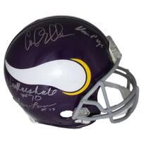 Purple People Eaters Autographed Minnesota Vikings Proline Helmet PPE JSA