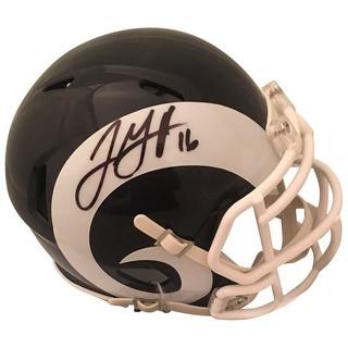 Jared Goff Autographed Los Angeles Rams Signed Football Mini Helmet PSA DNA COA 1