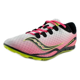 Saucony Vendetta Women Round Toe Synthetic Pink Cleats (Option: Cleats)