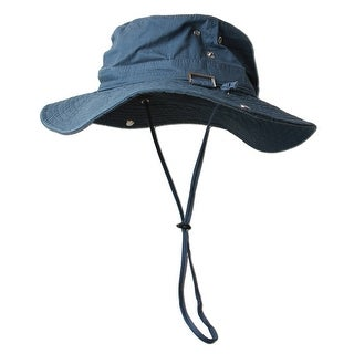 Fishing Draw String Boonie Hat With Top Side Buckle for ID - small medium