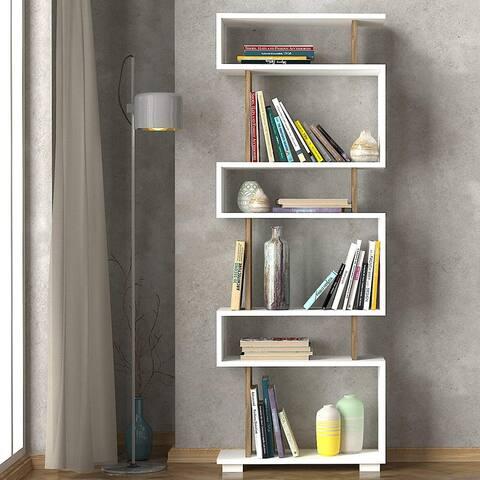 Blok Bookcase White-Brown