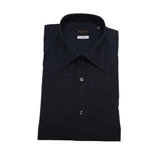 Valentino Men Slim Fit Cotton Dress Shirt Black