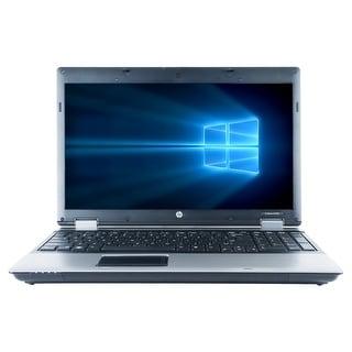 "Refurbished HP ProBook 6550B 15.6"" Laptop Intel Core i5-450M 2.4G 4G DDR3 250G DVDRW Win 10 Pro 1 Year Warranty - Silver"