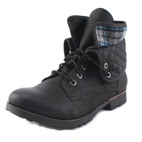 Rock & Candy Spraypaint Quilted Black/Blue Boots
