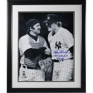 Goose Gossage and Framed w Last To Pitch To Thurman Inscrip 16x20 Photo
