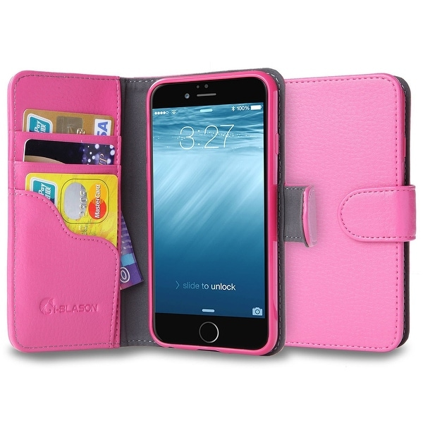 iPhone 6S Case, i-Blason, Apple iPhone 6 Case 4.7- Wallet Case Cover with Stand-Pink