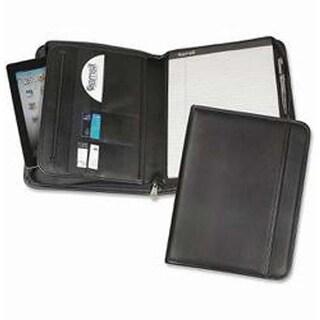 Black - Zipper Padfolio with iPad/Tablet Pocket