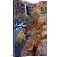 Premium Thick-Wrap Canvas entitled Red rock cliffs, Havasu Falls, Grand Canyon National Park, Arizona