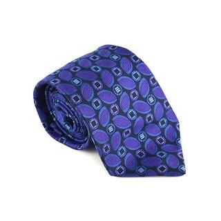 Etro MensPurple 100% Silk Geometric Print 3.25 In Standard Tie - One size