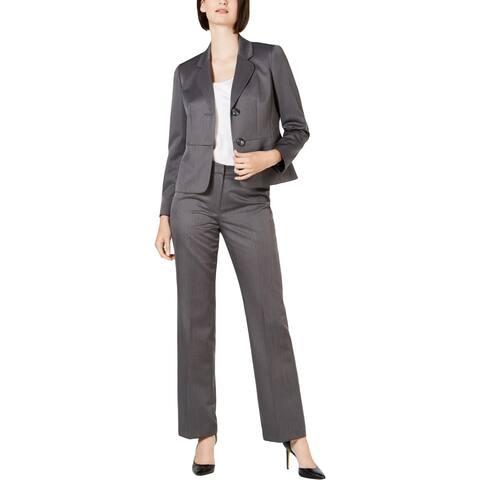 Le Suit Womens Suit Pants Business Office - Grey Tonal - 6