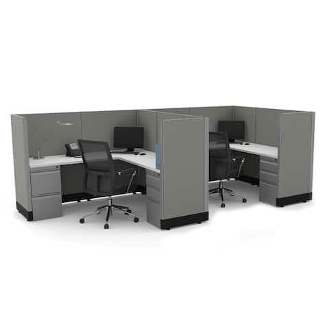 Workstation Desk 53H 2pack Inline Powered