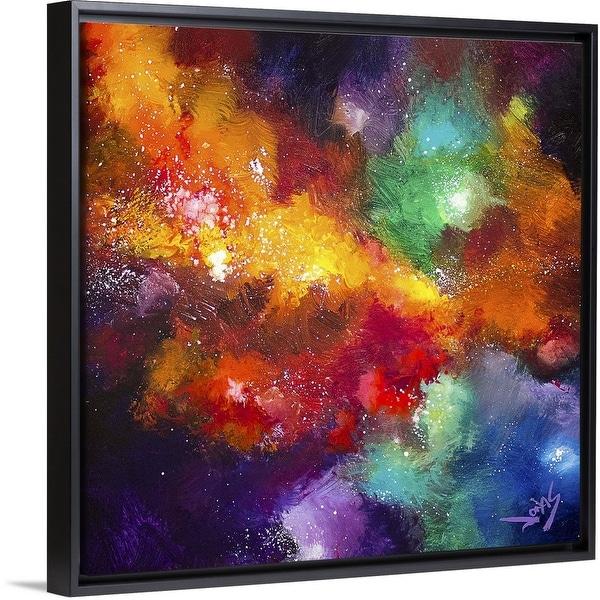 """Cosmic Voyage 223"" Black Float Frame Canvas Art"
