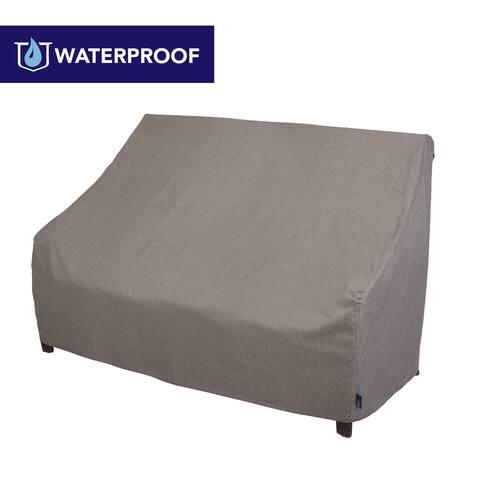 "Modern Leisure Garrison Waterproof Outdoor Patio Loveseat Cover, 82.5""W x 38""D x 38.25""H, Heather Gray"
