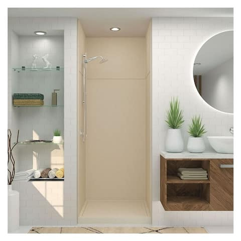 """Transolid Studio 36"""" x 36"""" x 99"""" Alcove Shower Kit with Extension - 36"""" x 36"""" x 96"""" - 36"""" x 36"""" x 96"""""""