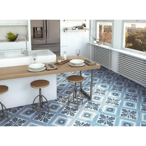 8x8 Industry Max Blue porcelain floor & wall tile (10.76 Sq. Ft./ 25 pc box)