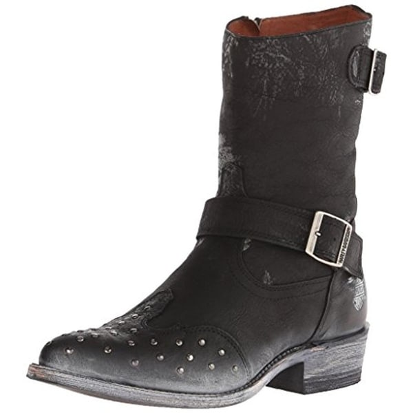 Harley-Davidson Womens Everly Cowboy, Western Boots Leather Studded