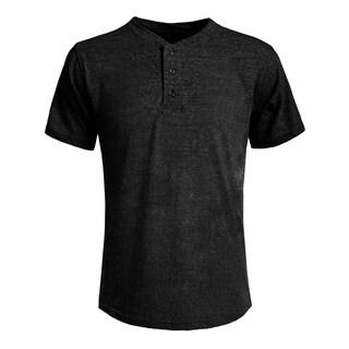 NE PEOPLE Mens Half Button Down Henley Short SleeveT-Shirts (NEMT89)