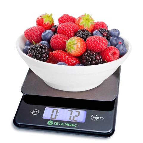 Digital Kitchen and Food Scale - Cooking and Portion Control With Precision Made Easy - Up to 11lb/5kg