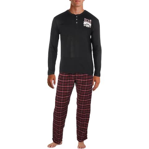 Ecko Unltd. Mens Pajama Gift Set Flannel Two Piece
