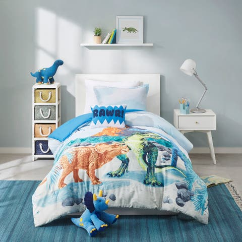 Mason Blue Dinosaur Printed Comforter Set by Mi Zone Kids