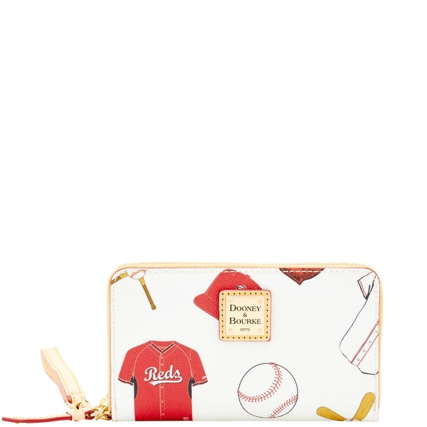 Dooney & Bourke MLB Reds Zip Around Phone Wristlet (Introduced by Dooney & Bourke at $118 in Mar 2016) - White