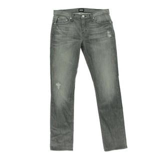Hudson Womens Skylar Distressed Mid-Rise Slim Jeans - 29