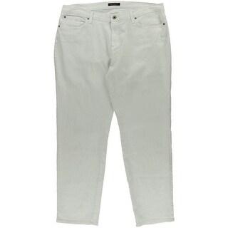 James Jeans Womens Plus High Waist Stretch Cigarette Jeans