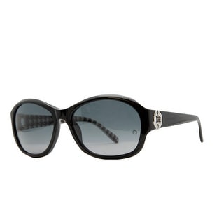 Mont Blanc MB 357/S 01B Black Oval Sunglasses - 59-16-135